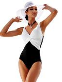 זול 2017ביקיני ובגדי ים-בגדי ריקוד נשים בגד ים נושם, דחיסה, נוח Tactel / צמר בגדי ים ביגוד חוף חליפת גוף טלאים שחייה / גמישות גבוהה