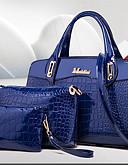 cheap Women's Nightwear-Women's / Unisex Bags PU Leather Bag Set 3 Pcs Purse Set Rivet / Zipper Blue / Black / Red