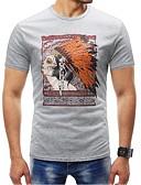 baratos Camisetas & Regatas Masculinas-Homens Tamanhos Grandes Camiseta - Esportes Básico Estampado, Retrato Decote Redondo / Manga Curta