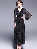 baratos Vestidos de Mulher-Mulheres Fofo balanço Vestido Sólido Longo