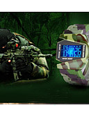 olcso Sportos óra-Férfi Páros Alkalmi óra Sportos óra Divatos óra Digitális Vízálló Naptár Világítás Szilikon Zenekar Digitális Luxus Alkalmi Lóhere - Camouflage Zöld