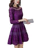 tanie Sukienki-Damskie Kij Szczupła Pochwa Sukienka - Solidne kolory Półgolf Nad kolano