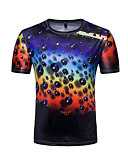 ieftine Maieu & Tricouri Bărbați-Bărbați Tricou Activ De Bază - Buline Bloc Culoare