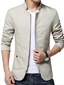 cheap Men's Jackets & Coats-Men's Basic Jacket - Solid Colored