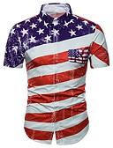 ieftine Tricou Bărbați-Bărbați Mărime Plus Size Cămașă De Bază - Geometric / Manșon scurt
