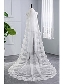 cheap Wedding Dresses-One-tier Vintage Style Wedding Veil Chapel Veils 53 Embroidery Tulle