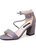 halpa Naisten mekot-Naisten Kengät Synteettinen Kesä Comfort Sandaalit / Tossut & varvastossut Kävely Tasapohja Avokkaat Tekojalokivi Musta / Harmaa / Pinkki