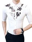 tanie Męskie koszule-Koszula Męskie Szczupła - Kwiaty