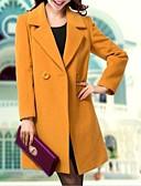 voordelige Damesjassen & trenchcoats-Dames Eenvoudig Informeel Lang Werk Kleding Afspraakje Alledaagse kleding Effen Polyester Overige