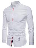 tanie Męskie koszule-Rozmiar plus Koszula Męskie Wzornictwo chińskie Jendolity kolor / Długi rękaw