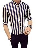 זול חולצות לגברים-פסים קולור בלוק עסקים בסיסי חולצה - בגדי ריקוד גברים