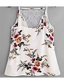 hesapli Külotlar-Kadın's Tişört Çiçekli Temel