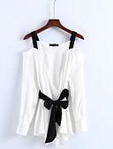 olcso Női ruhák-Alap Pántos Női Blúz - Egyszínű / Színes