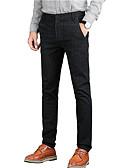 זול חולצות לגברים-בגדי ריקוד גברים סגנון רחוב מידות גדולות כותנה רזה צ'ינו מכנסיים פסים