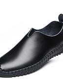 זול תחתוני גברים אקזוטיים-בגדי ריקוד גברים אור סוליות עור אביב / סתיו נוחות נעליים ללא שרוכים שחור / חום