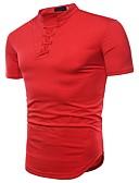 billige T-shirts og undertrøjer til herrer-Herre - Ensfarvet Blondér Basale / Gade Fest T-shirt Hvid L / Kortærmet / Sommer