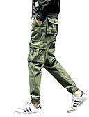 povoljno Muške duge i kratke hlače-Muškarci Osnovni Veći konfekcijski brojevi Pamuk Chinos Hlače Jednobojni / Sport