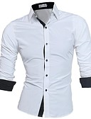 cheap Men's Tees & Tank Tops-Men's Business Basic Plus Size Slim Shirt - Solid Colored Button Down Collar