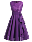 cheap Women's Dresses-Women's Going out Holiday Sophisticated Slim Sheath Chiffon Dress - Solid Colored Lace Pleated