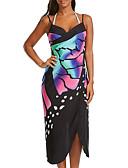 baratos Vestidos de Mulher-Mulheres Para Noite balanço Vestido Sólido Com Alças Médio