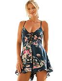 cheap Men's Swimwear-women's going out romper - floral strap