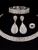 cheap Mother of the Bride Dresses-Women's Layered Jewelry Set - Drop European, Fashion, Multi Layer Include Drop Earrings White For Wedding