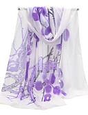 cheap Fashion Scarves-Women's Basic Chiffon Rectangle - Print Mesh