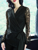 Χαμηλού Κόστους Βραδινά Φορέματα-Γυναικεία T-shirt Βίντατζ Κομψό στυλ street Μονόχρωμο Δαντέλα Κοφτό