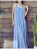 זול שמלות נשים-קולר מותניים גבוהים מעל הברך אחיד - שמלה גזרת A רזה ליציאה בגדי ריקוד נשים / סקסית