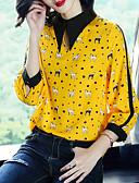 tanie Koszula-Koszula Damskie Vintage Wyjściowe Kołnierzyk koszuli Szczupła - Zwierzę