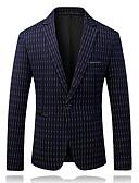 זול חולצות לגברים-פסים דש רשמי עסקים מקרית בלייזר-בגדי ריקוד גברים / אנא בחר\י מידה אחת גדולה יותר מהמידה הנורמלית שלך. / שרוול ארוך