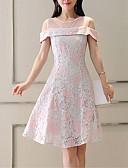 povoljno Ženske haljine-Žene Osnovni Veći konfekcijski brojevi Slim Hlače - Cvjetni print / Geometrijski oblici Print Visoki struk Plava / Party