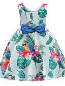 Χαμηλού Κόστους Βρεφικά φορέματα-Παιδιά Κοριτσίστικα Κομψό στυλ street Καθημερινά / Παραλία Στάμπα Αμάνικο Φόρεμα Ουράνιο Τόξο