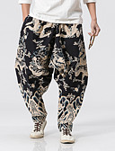 ieftine Pantaloni Bărbați si Pantaloni Scurți-Bărbați In Larg Picior Larg Pantaloni Geometric / Sfârșit de săptămână