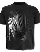 ieftine Maieu & Tricouri Bărbați-Bărbați Mărime Plus Size Tricou Bumbac Șic Stradă / Exagerat - Bloc Culoare / Portret Imprimeu / Manșon scurt