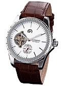 ieftine Maieu & Tricouri Bărbați-Bărbați Ceas Elegant Japoneză Mecanism automat 30 m Cronograf Piele Autentică Bandă Analog Creative Modă Negru / Roșu - Maro Albastru / Oțel inoxidabil