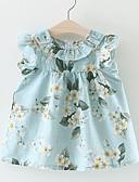 Χαμηλού Κόστους Βρεφικά φορέματα-Μωρό Κοριτσίστικα Ενεργό Καθημερινά / Αργίες Φλοράλ Σουρωτά / Στάμπα Αμάνικο Κανονικό Κανονικό Ως το Γόνατο Βαμβάκι / Πολυεστέρας Φόρεμα Θαλασσί / Χαριτωμένο / Νήπιο