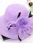 Χαμηλού Κόστους Chic Colorful Chiffon Scarves-Γυναικεία Kentucky Derby Στάμπα Χαριτωμένο Δίχτυ Δαντέλα-Καπέλο ηλίου Όλες οι εποχές Χακί Βαθυγάλαζο Ανοικτό μπλε / Ύφασμα