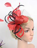 preiswerte Hochzeit Schals-Great Gatsby Retro / 20er Kostüm Damen Flapper Haarband Purpur / Blau / Rot Vintage Cosplay Feder Ärmellos