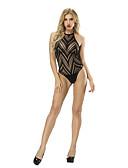 hesapli Kadın Gecelikleri-Takımlar Yatak kıyafeti - Örümcek Ağı, Solid / Çizgili Kadın's