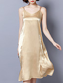 זול שמלות נשים-כתפיה מידי אחיד - שמלה נדן רזה חוף בגדי ריקוד נשים / קיץ
