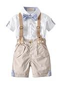 povoljno Hlače za dječake-Dijete koje je tek prohodalo Dječaci Osnovni Jednobojni Kratkih rukava Pamuk Komplet odjeće