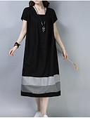 tanie Sukienki-Damskie Vintage Luźna Spodnie - Kolorowy blok Patchwork Czarny / Kwadratowy dekolt