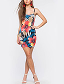 cheap Women's Dresses-Women's Vintage Bodycon Dress - Floral