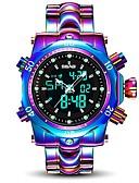 ieftine Ceasuri de Lux-Bărbați Ceas Sport 30 m Rezistent la Apă Calendar Aliaj Bandă Analog - Digital Lux Modă Alb / Violet - Alb Mov