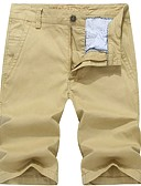 ieftine Pantaloni Bărbați si Pantaloni Scurți-Bărbați De Bază Bumbac Pantaloni Chinos / Pantaloni Scurți Pantaloni Mată / Sfârșit de săptămână