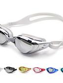 abordables Ropa de Triatlón-Gafas de natación Anti vaho / Tamaño Ajustable / Impermeable Gel de sílice PC Blanco / Negro / Azul Oscuro Verde / Rosa / Negro