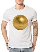 abordables Relojes de Moda-Hombre Activo Básico Estampado Camiseta Geométrico