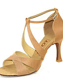 preiswerte Hochzeit Schals-Damen Schuhe für den lateinamerikanischen Tanz / Salsa Tanzschuhe Satin / Seide Sandalen / Absätze Schnalle / Band-Bindung Maßgefertigter