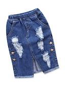 povoljno Suknje za djevojčice-Djeca Dijete koje je tek prohodalo Djevojčice Aktivan Punk & Gotika Dnevno Izlasci Jednobojni Rupica S izrezom Suknja Plava